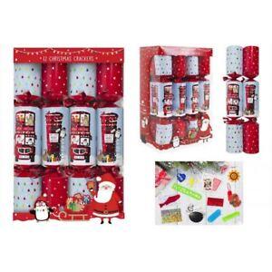 Box-Of-12-Christmas-Crackers-Christmas-Bus-Postbox-Kids-Family-Fun-Festive-Xmas