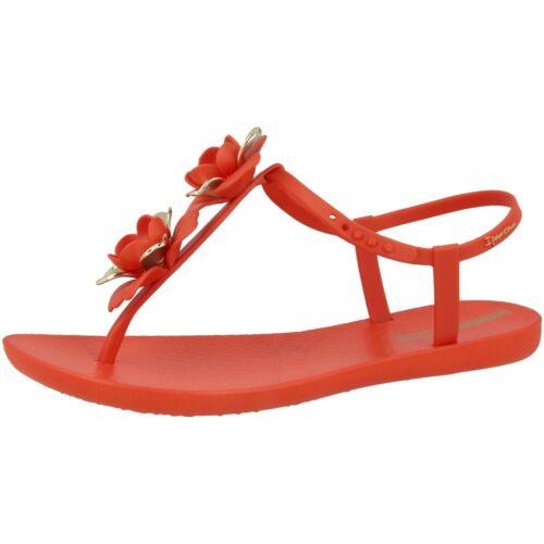 Fem Ipanema Sandales Rouge Sandalettes Tongs Fleurs Dor qrrnxwREU6