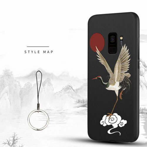 For Samsung S10 E S10 Plus S8 S9 Plus S7 S6 Edge C7 C6 Case 3D Relief Solid