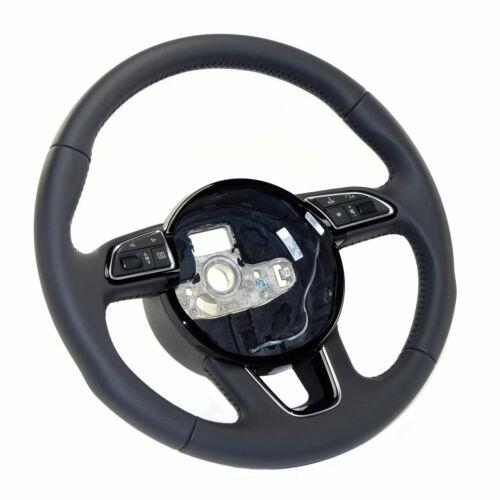 MFA deporte volante original Audi Q3 8U A3 8V hasta 2016 cuero volante negro