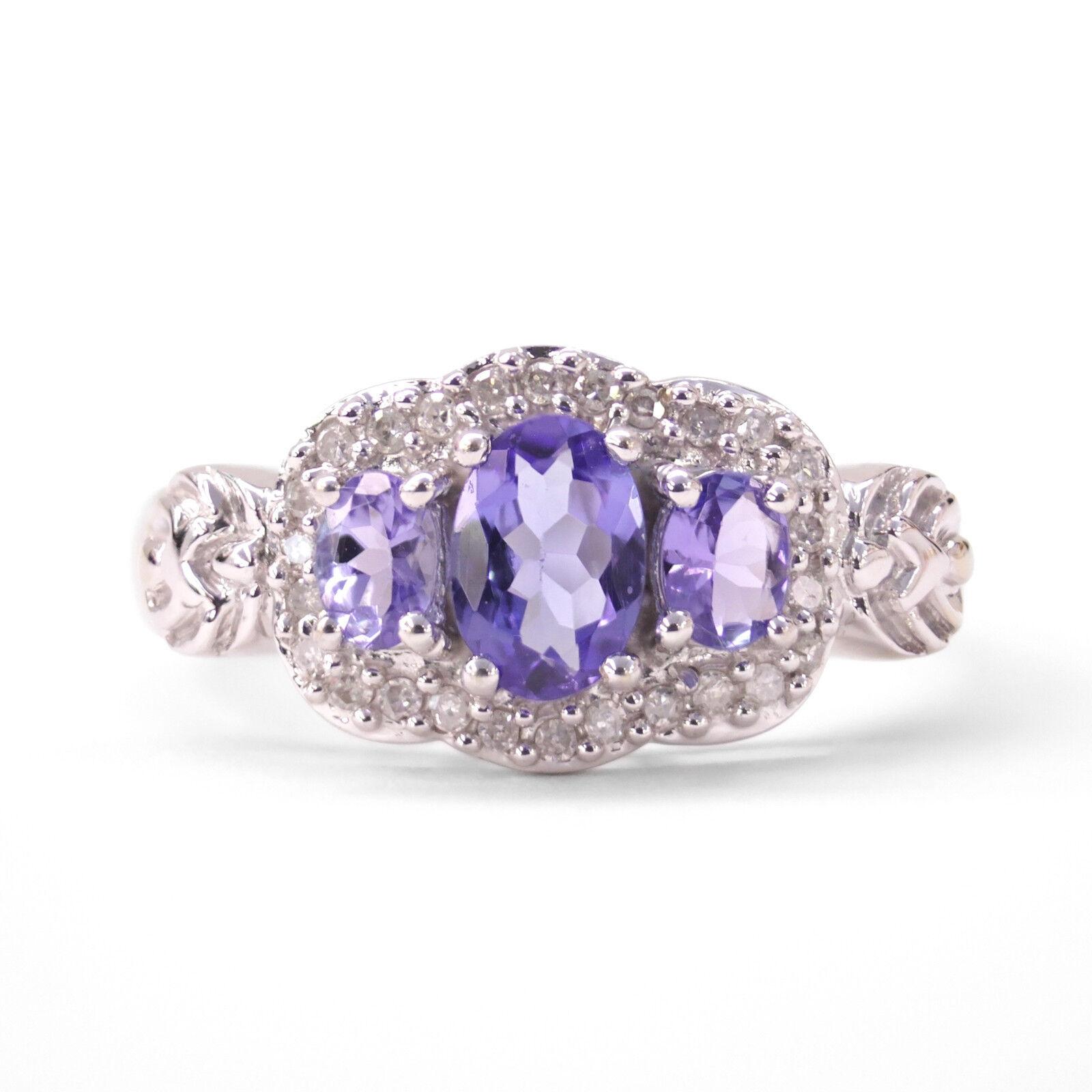 1ccb4f538672 Tanzanite   Diamond 3-Stone Ring