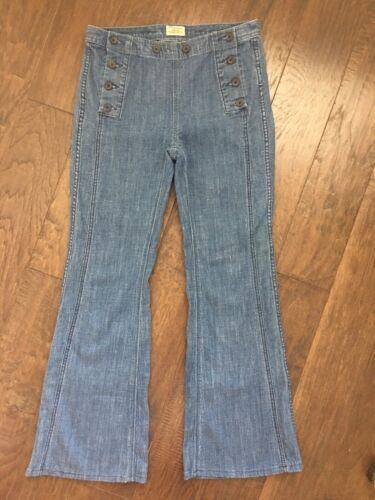 Free People High Waisted Jeans Sz 28 Bell Bottoms