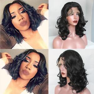 Brazilian Lace Front Wig Short Wavy Bob Synthetic Hair Wigs Fashion ... aa94da70aa