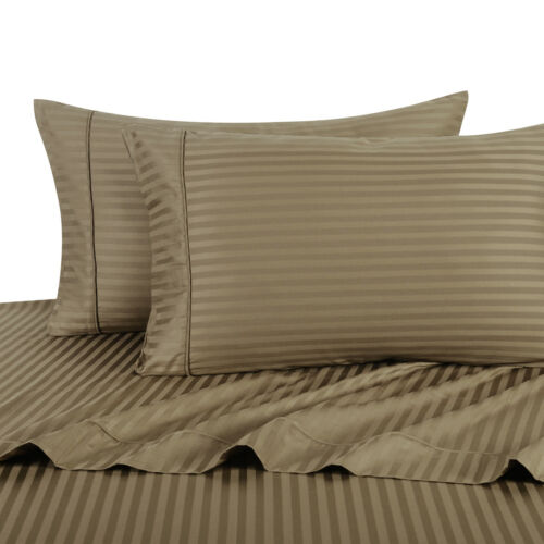 Ultra Soft Sateen Stripe Pillow Cases Set 1000 TC 100/% Cotton 2PC Pillowcases