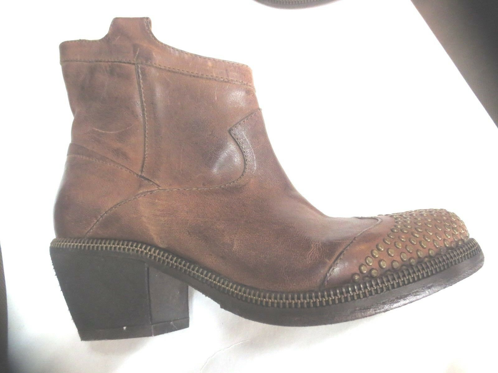 Boots santiag FRU.IT cuir washed  talon 5cm NEUVE Valeur 290E pointure 35.5