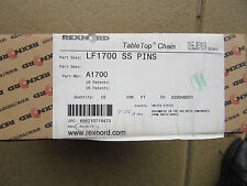 Rexnord Lf1700 Ss Pins 10 Table Top Chain A1700 Fda Approval New Free Shipping