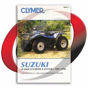 1987-1998-Suzuki-LT-4WD-Quad-Runner-Repair-Manual-Clymer-M483-2-Service-Shop