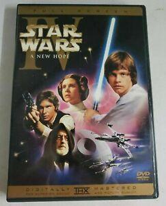 Star Wars Episode Iv A New Hope Dvd 2004 Fullscreen Remastered Version 1 Disc Ebay