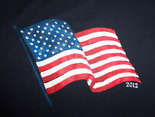 United States USA Flag Patriotic 2012 Navy Graphic Print T Shirt - XL