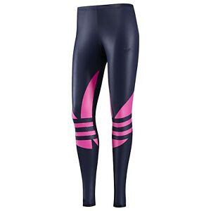 Details about RARE~Adidas EF TREFOIL LEGGINGS Yoga Gym Running superstar tight Pant~Women sz L