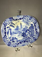 Staffordshire Transfer Blue Willow Chinoiserie Pattern By Wedgwood Ca 1830