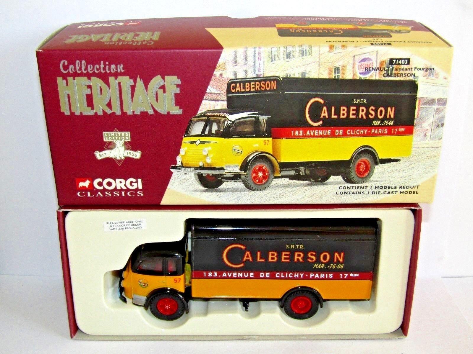 CORGI RENAULT FAINEANT FOURGON CALBERSON 1 50 71403