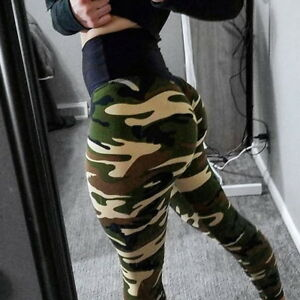 7688af839c1f9 Sexy Women High Waist Camo Butt Lift Yoga Pants Push Up Leggings ...