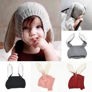 26f2fab37b7 Image is loading Baby-Hats-Bunny-Rabbit-Ear-Winter-Crochet-Earmuff-