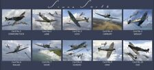 Spitfire MK1 Aces DFC collectors postcard set Battle of Britain Malan,Tuck,