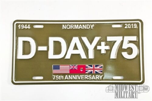 75 American licence number plate Dodge GMC Jeep WW2 D Day 75th anniversary