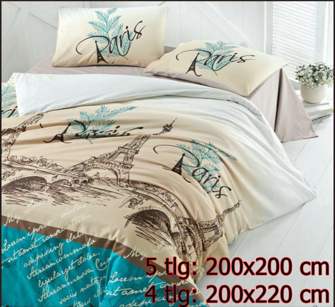 Bettwäsche 200x220   200x200 cm Bettgarnitur Bettbezug 100% Baumwolle PARIC
