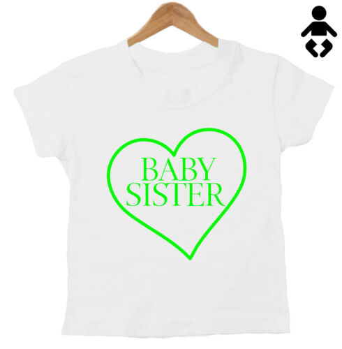 New baby T-Shirt BABY SISTER siblings Funny Baby // Childs Sisters Brother