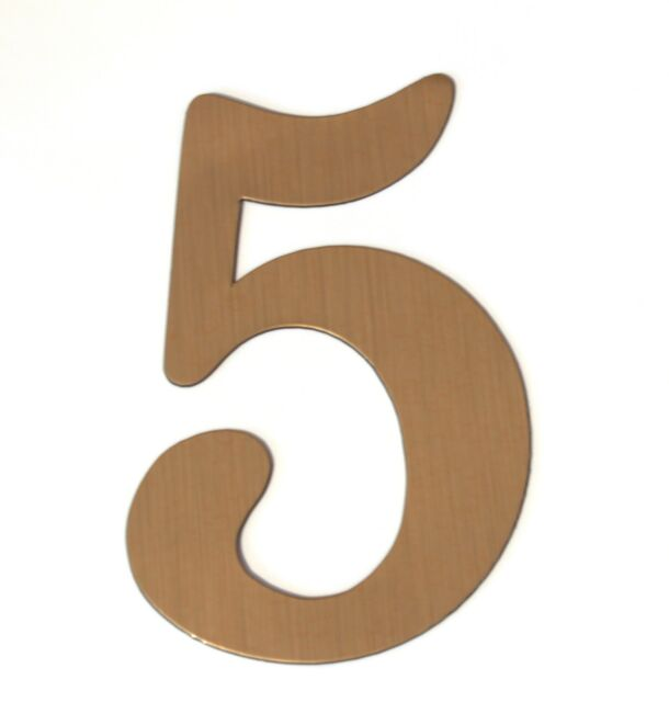 House Numbers - Brass Magnetic  - Great for Garage Doors
