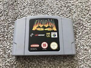 Doom 64 NINTENDO 64 N64 juego oficial EUR REINO UNIDO PAL * solo Carro *