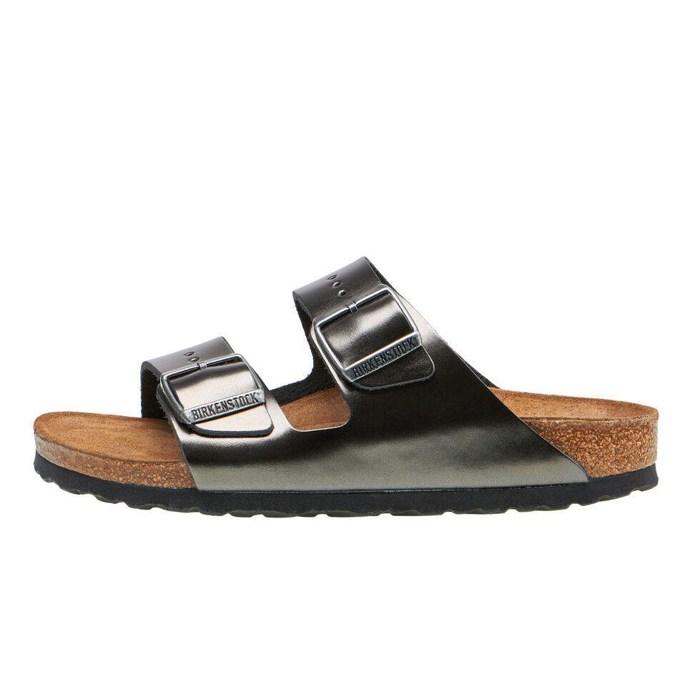 Birkenstock-arizona SFB W metalizado Anthracite sandalias, zapatos