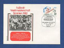 Orig.Ersttagsbrief  WM Spanien 1982   ENGLAND - DEUTSCHLAND / Spiel 38 (2.Runde)