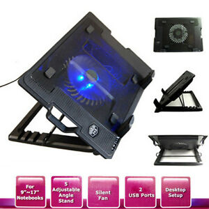 Notebook-Laptop-Cooling-Pad-Cooler-Fan-Stand-w-USB-Hub