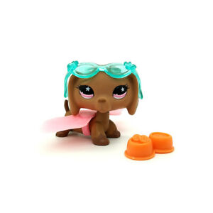 Lps Littlest Pet Shop Toys 932 Brown Tan Dachshund Hot Dog Pink
