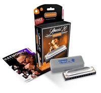 Harmonica - Hohner Special 20 Progressive Key Of C + Free Mini Harp + Lessons on sale