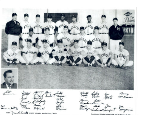 1957 MINNEAPOLIS MILLERS  8X10 TEAM PHOTO BASEBALL NY GIANTS CEPEDA DAVENPORT
