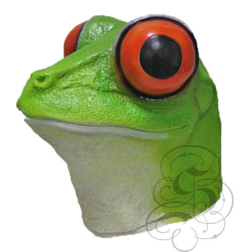 Latex Semi-Aquatic Realistic Red-Eyed Tree Frog Head Props Fancy Party Masks