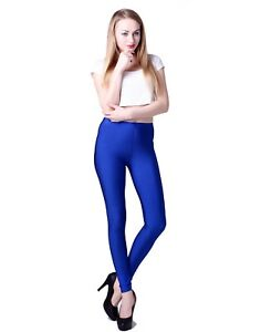 Women-039-s-Shiny-Leggings-Solid-Color-Vibrant-High-Waist-Fashion-Stretch-Pants