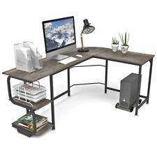 L Shaped Desk Corner Computer Gaming Laptop Table Workstation Home Office Desk