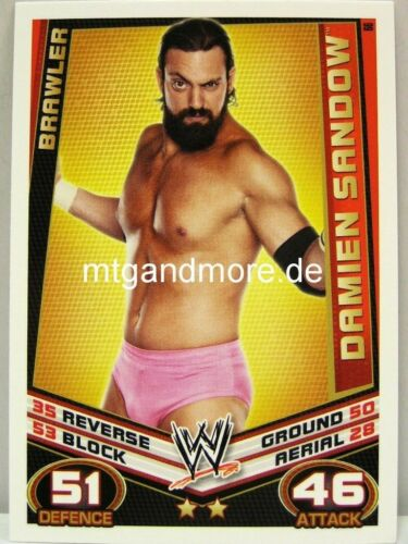Slam attax rebellion #066 Damien sandow-Brawler