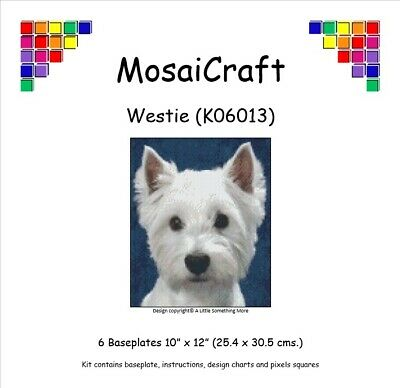 MosaiCraft Pixel Craft Mosaic Art Kit /'Westie/' Pixelhobby