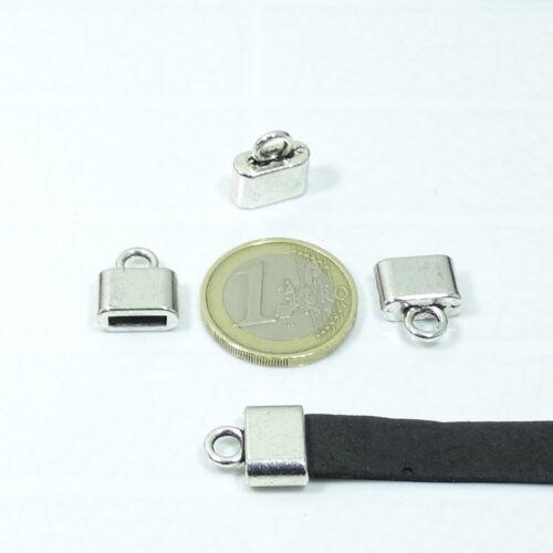 18 Terminales Para Cuero//Cordón 14x5mmT90 Abalorios End Caps Bijouteria Beads