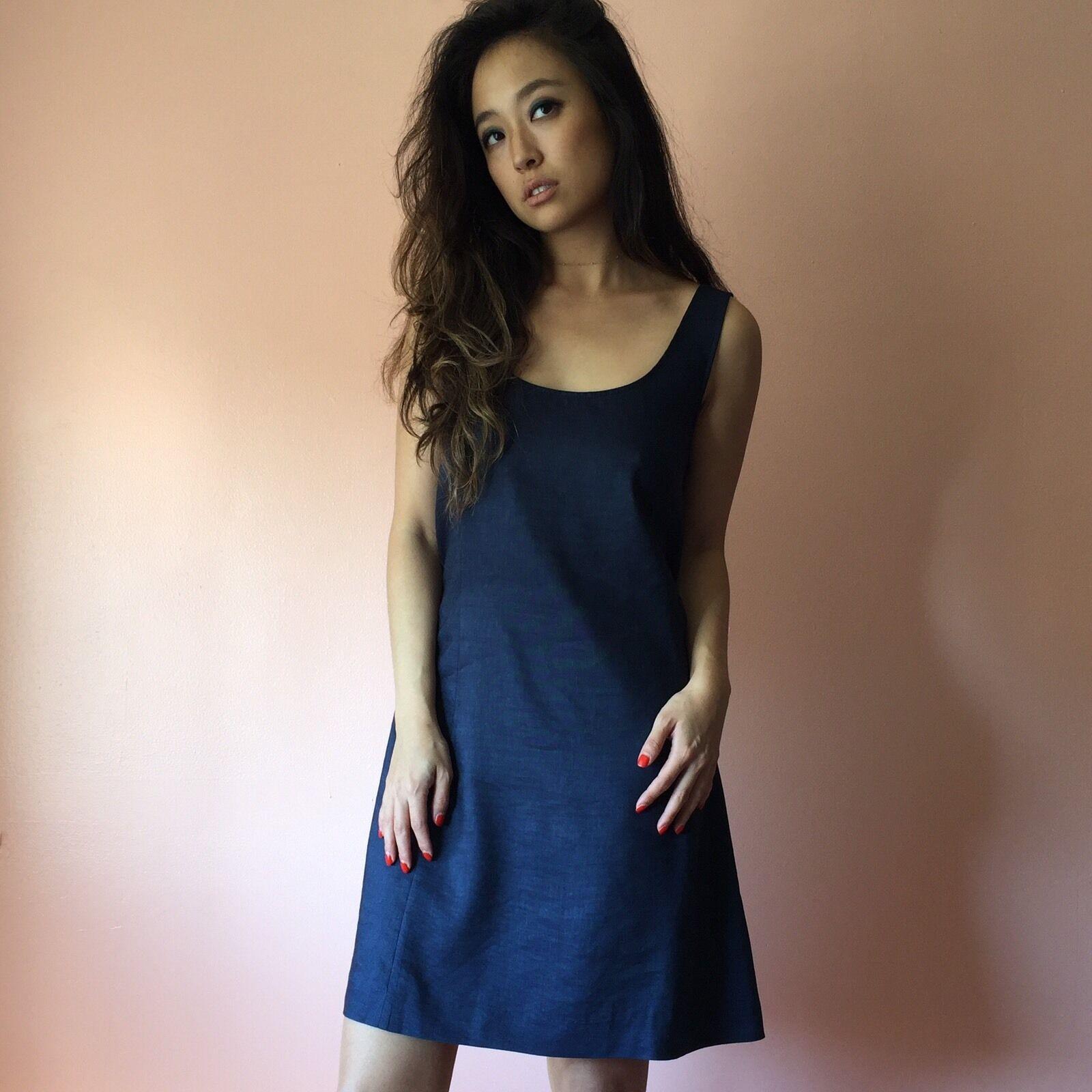 Theory Denim Linen Dress MSRP  420