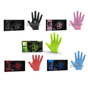 Elegance Barber or Stylist Nitrile Gloves Black, Pink, Blue, Green or Red 100CT