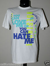 NIKE Love Me Hate Me T-Shirt sz XL X-Large White Blue Volt Premium Max 90 95 NEW