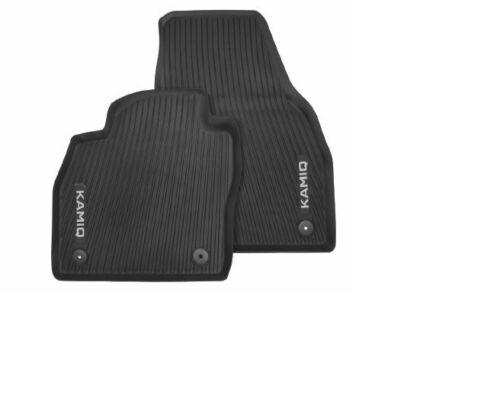 hinten Gummi Fußmatten schwarz 4 teilig Original Skoda Kamiq Gummimatten vorn