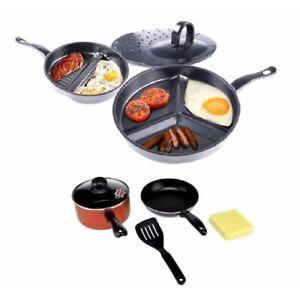 Premier-Divide-Wonder-Tri-Pan-w-5-piece-Non-Stick-Coating-Cookware