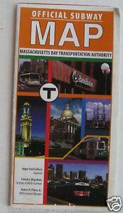 Massachusetts Subway Map.Details About Official Subway Map Massachusetts Bay Transportation Auth 1998