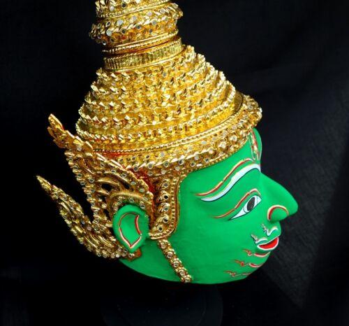 Rama Mask Khon Thai Handmade Ramayana Home Art Decor Collectible Free Shipping