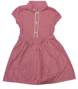 3-14yrs Girls Gingham School Dress All colours Blue Yellow Green Red