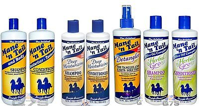Mane 'n Tail Shampoo's & Conditioner's - Select Your Hair Product from the List.