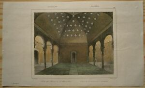1844 print COURT OF BATHS, ALHAMBRA, ANDALUSIA, SPAIN (#25)