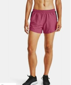 UNDER-ARMOUR-WOMEN-039-S-HEATGEAR-RUNNING-SHORTS-PINK-SZ-S-M-OR-L-1293874-NWT