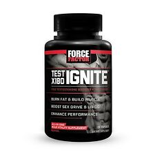 Force Factor Test X180 Ignite Free Testosterone Booster to Build Muscle + Bur...