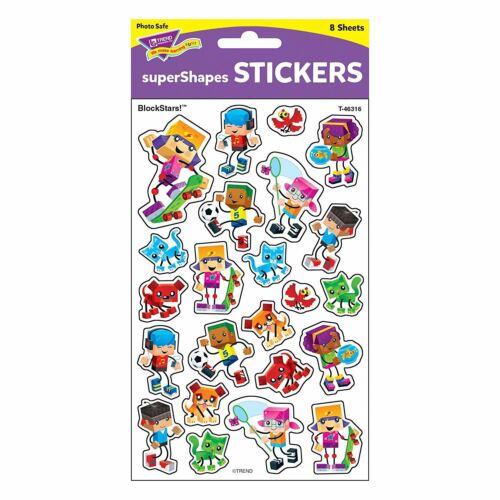 184 blockstars SCHOOL REWARD stickers-supershapes idéal pour les enseignants