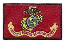 Embroidered USMC Flag Iron on Sew on Patch Badge HIGH QUALITY APPLIQUE